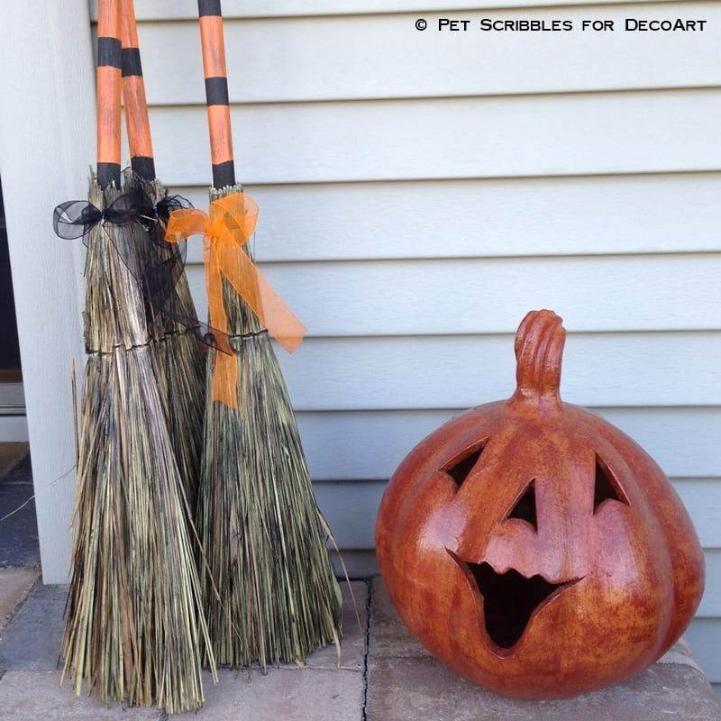 Halloween Decor Broom Parking