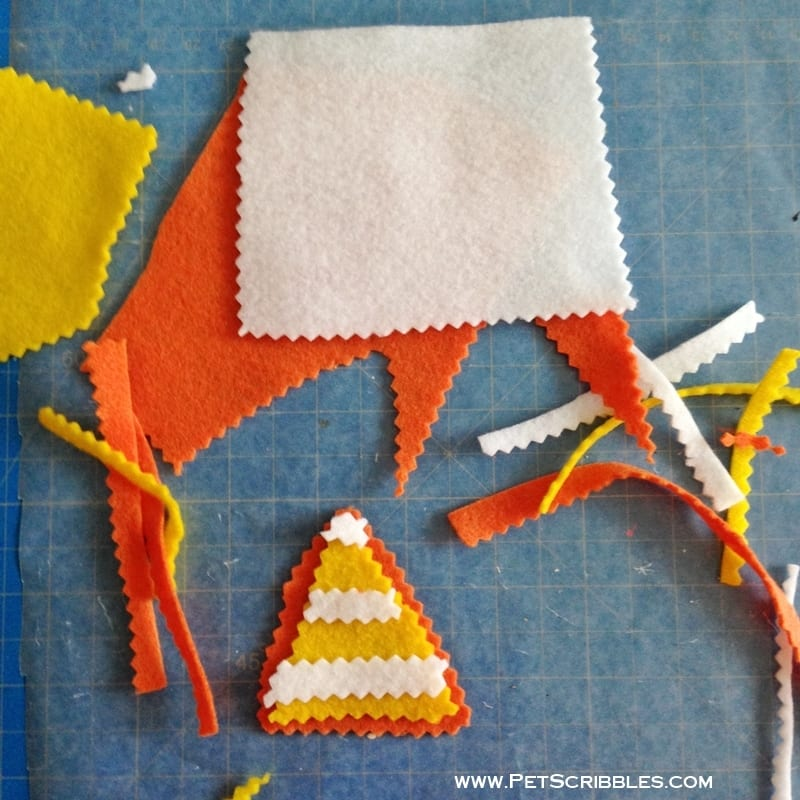 Kunin Group Felt in Candy Corn colors