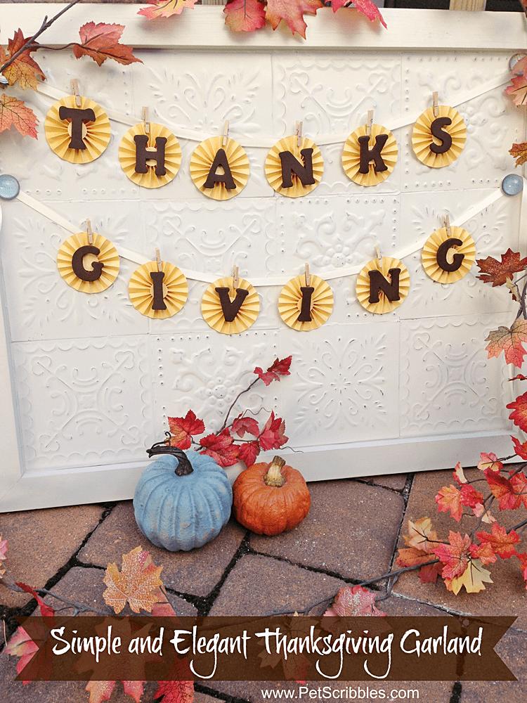 Simple Thanksgiving Garland