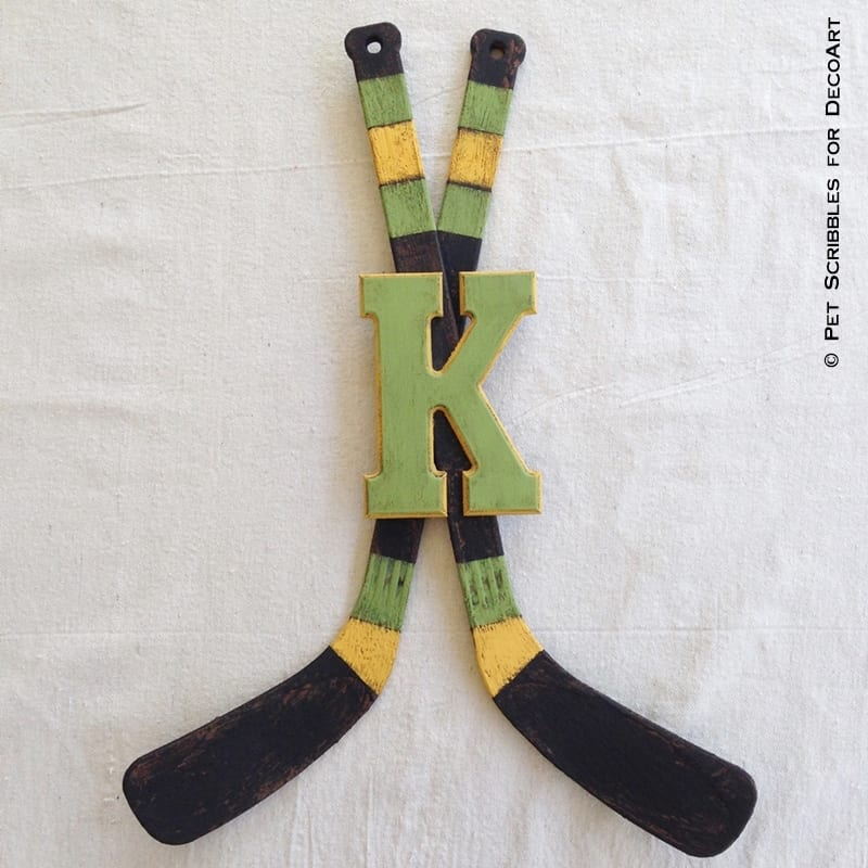 Vintage Hockey Stick Decor