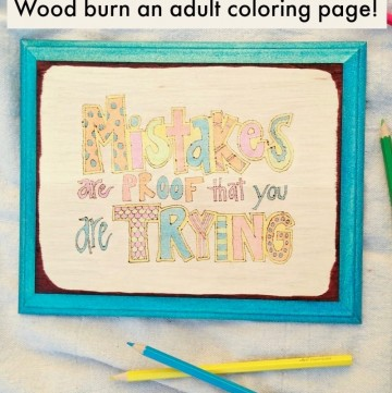 Wood burn an adult coloring page