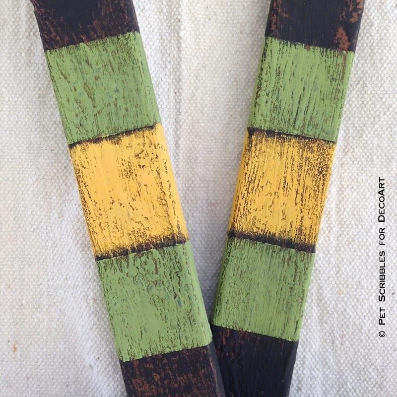 chalky finish stripes on hockey sticks