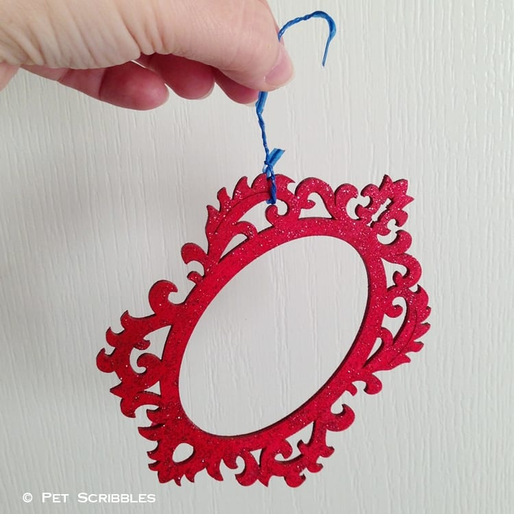 hang up painted ornaments to dry
