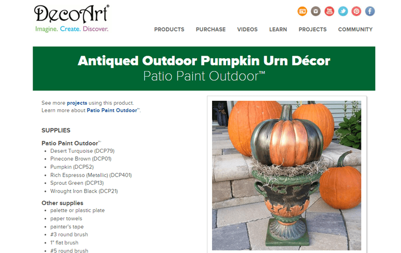 Antique Pumpkin Urn DIY