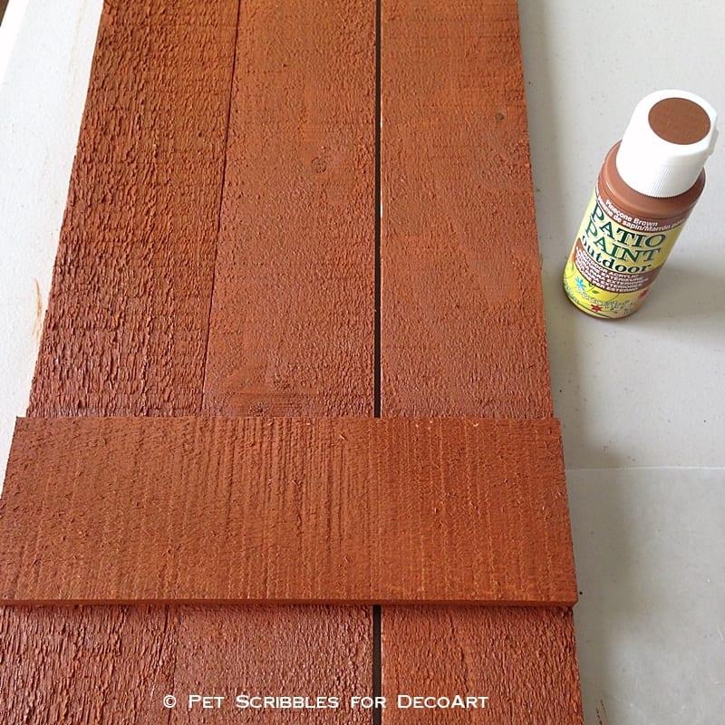 DecoArt Patio Paint Ooutdoor in PInecone Brown
