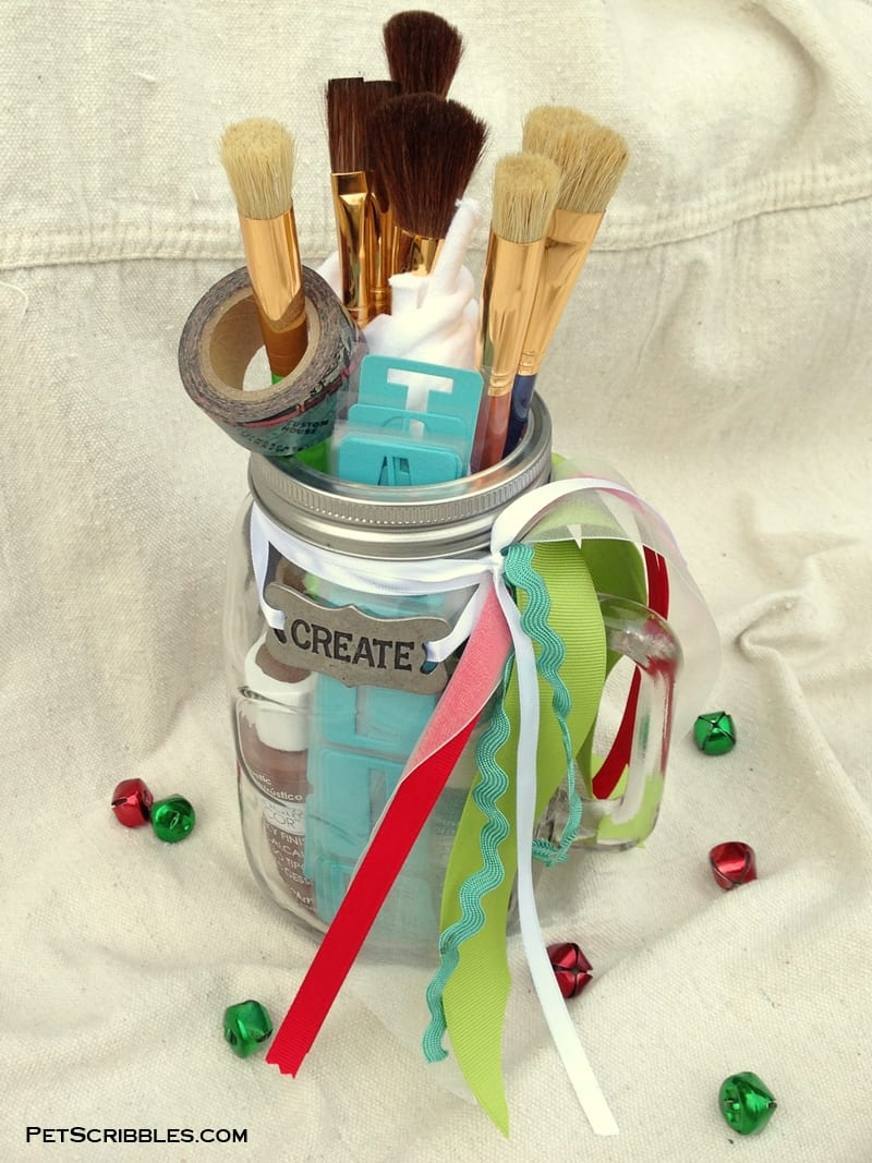 Gift in a Mason Jar for Painters