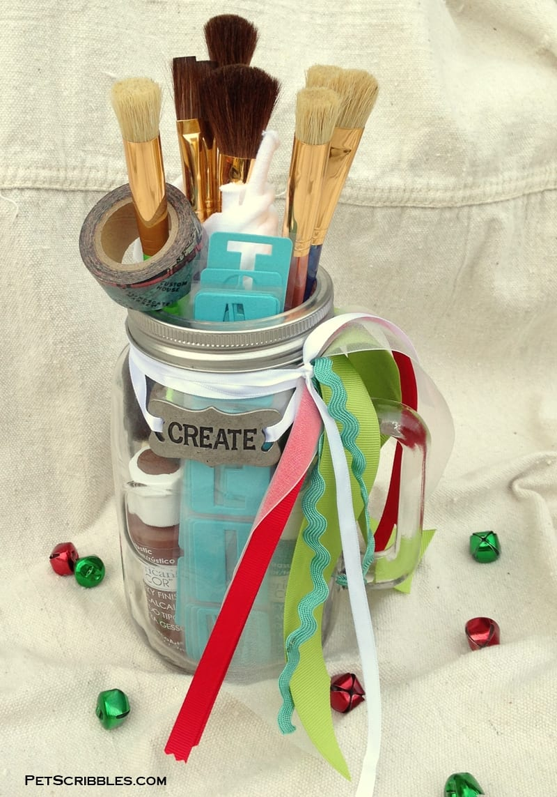 Mason Jar Gift for Craft Painters