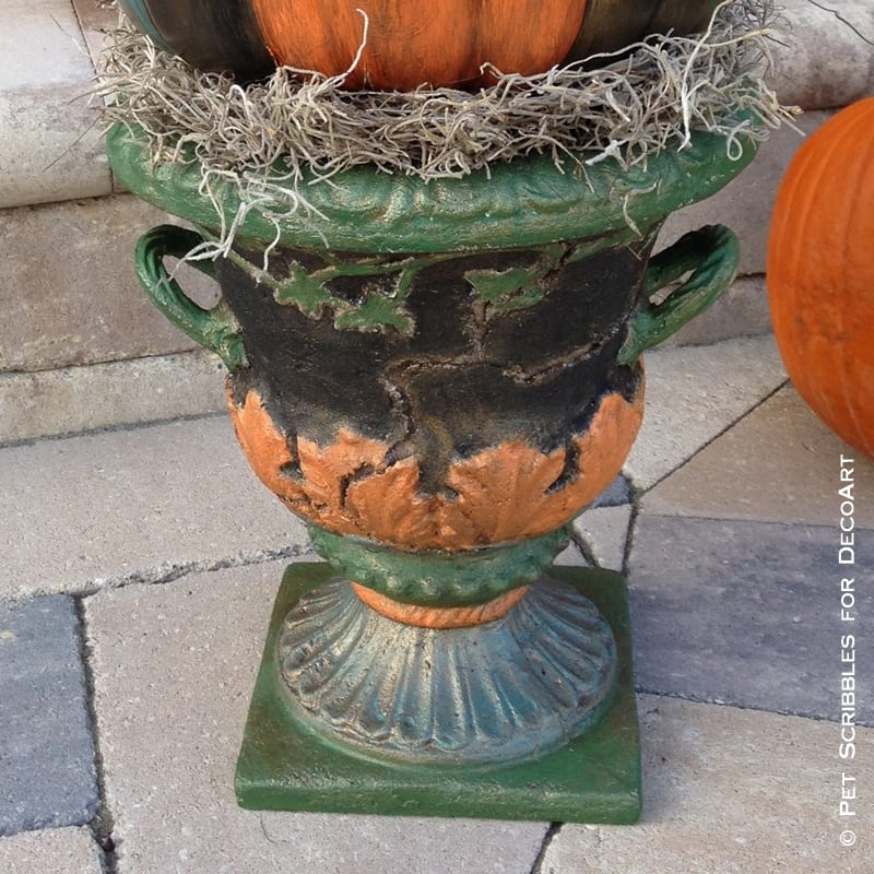 Outdoor Fall Garden Urn