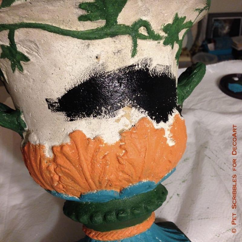 Painted Garden Urn