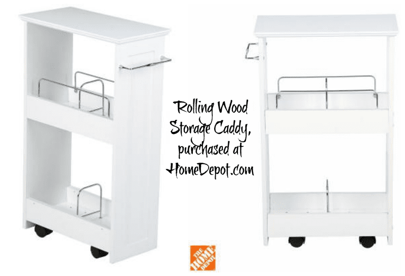 Rolling Wood Storage Caddy