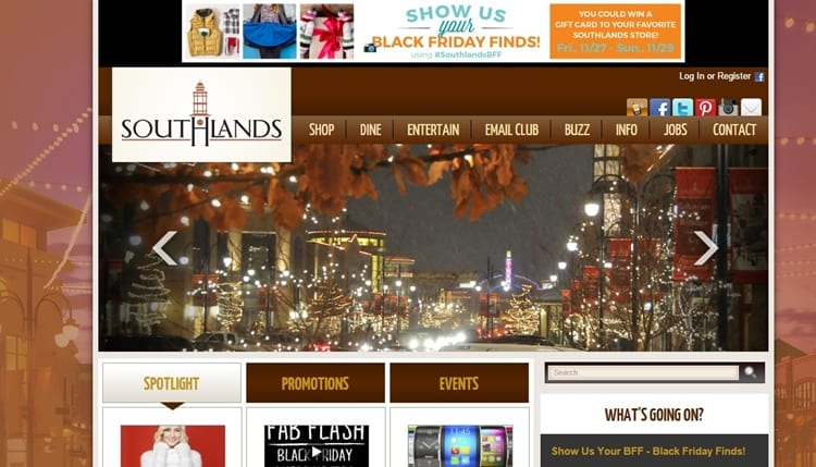 Southlands Denver Colorado Website