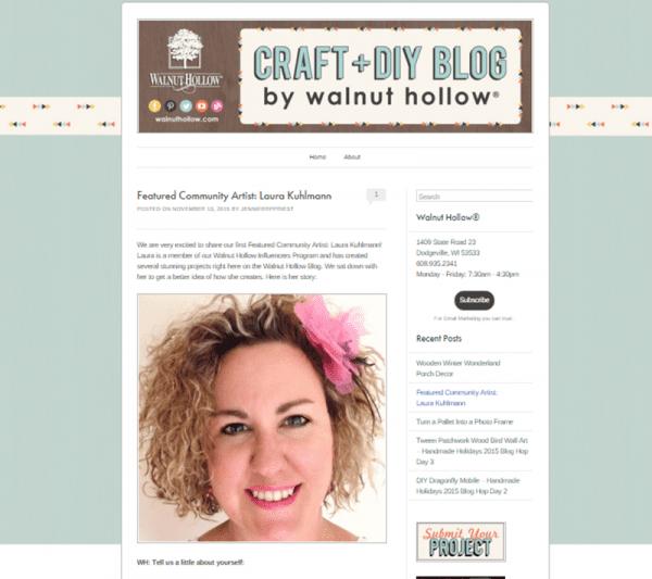 Walnut Hollow Featured Artist Laura Kuhlmann