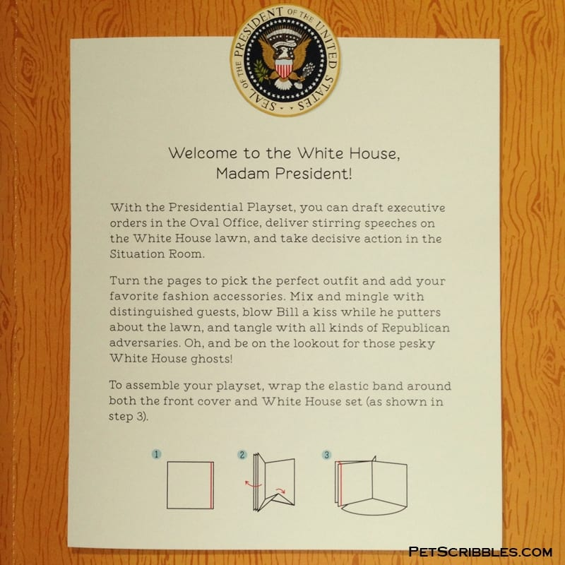 about the Hillary Rodham Clinton Presidential Playset