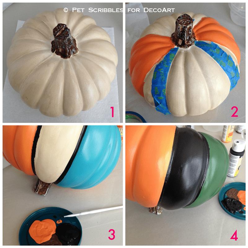 painting a craft pumpkin