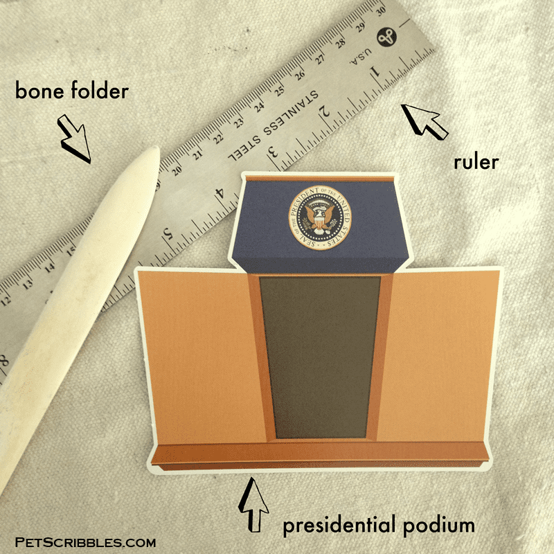 presidential podium from the Hillary Clinton Presidential Playset