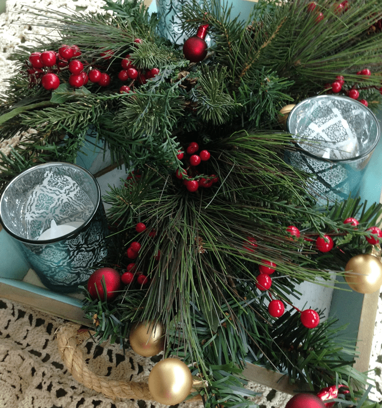 Christmas Tray Centerpiece