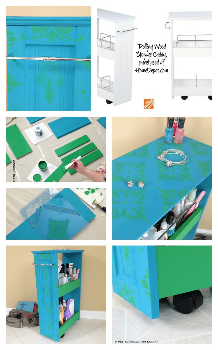 Dorm Room Storage Cart Makeover