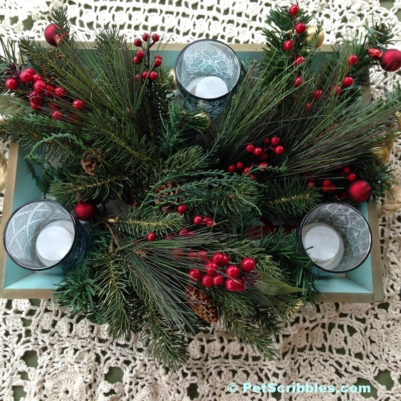 Easy Christmas Tray Decor