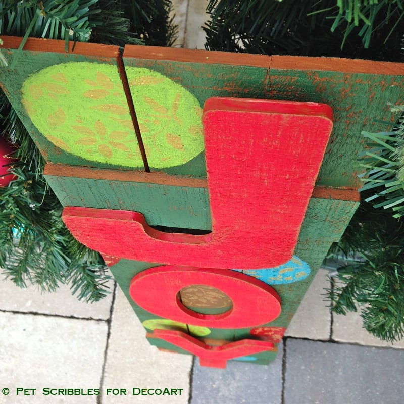 JOY outdoor holiday sign