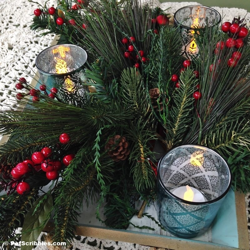 Lighted Centerpiece Christmas Tray