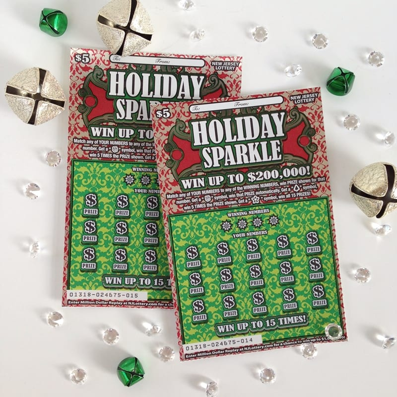 NJ Lottery Holiday Sparkle Instant Game