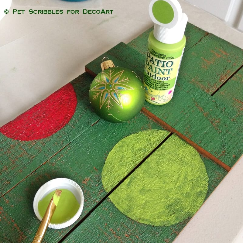 Painted and Stenciled Outdoor JOY Sign