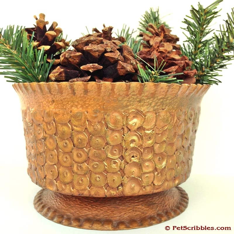 Simple Holiday Decor with Pinecones and Greenery