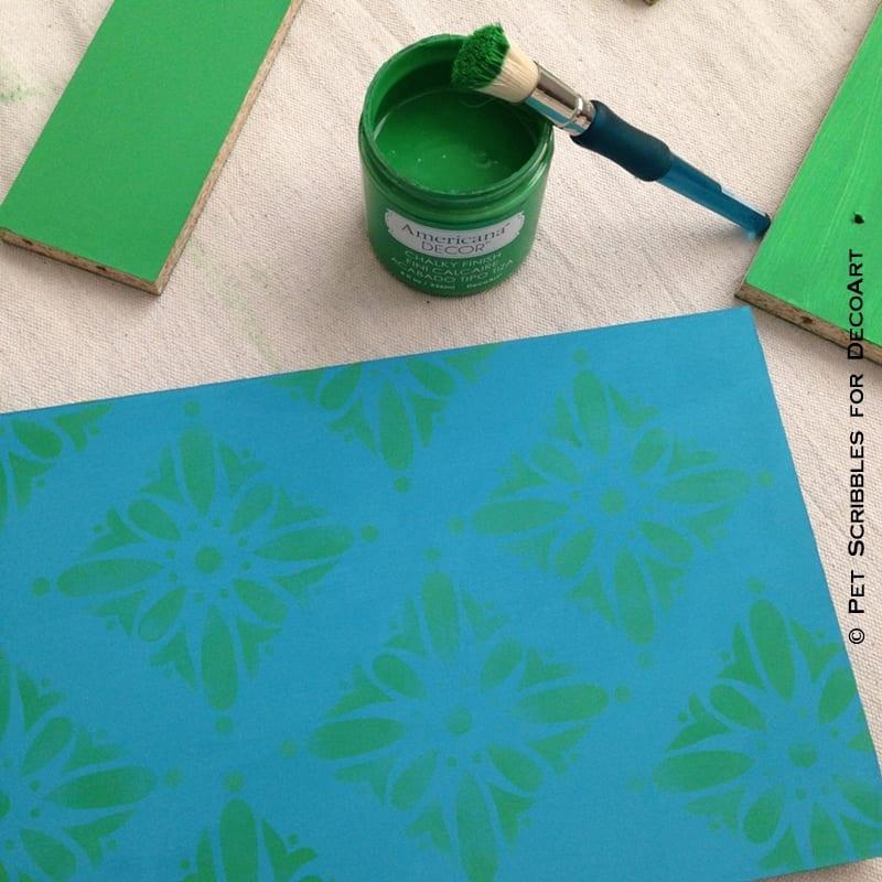 repeat stencil design to make pattern