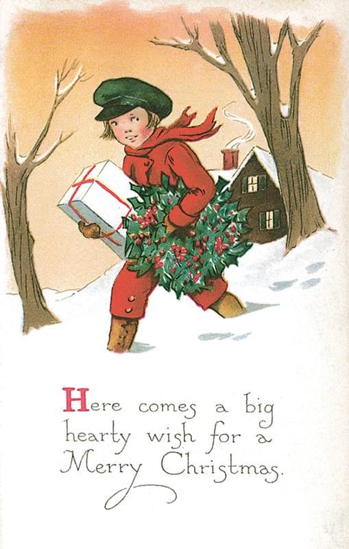 vintage Christmas postcard image