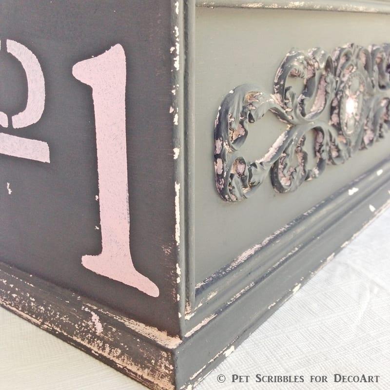 Art Supply Caddy Makeover details