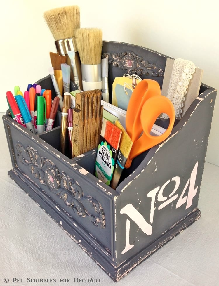 Art Supply Caddy Makeover