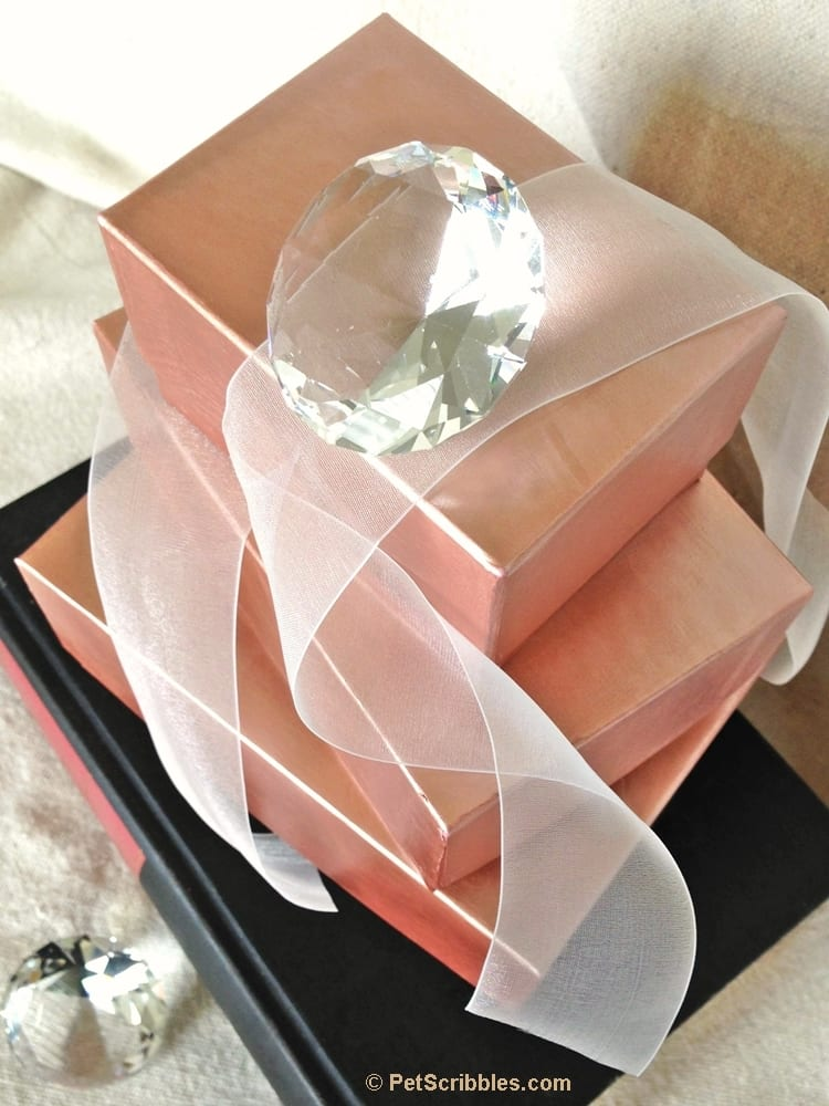 DIY Rose Gold Stacking Boxes