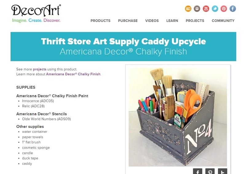 Thrift Store Art Caddy Upcycle