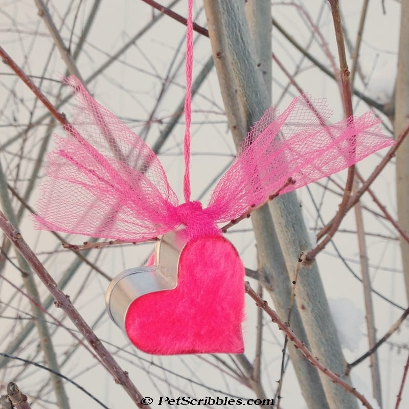tiny heart cookie cutter ornament