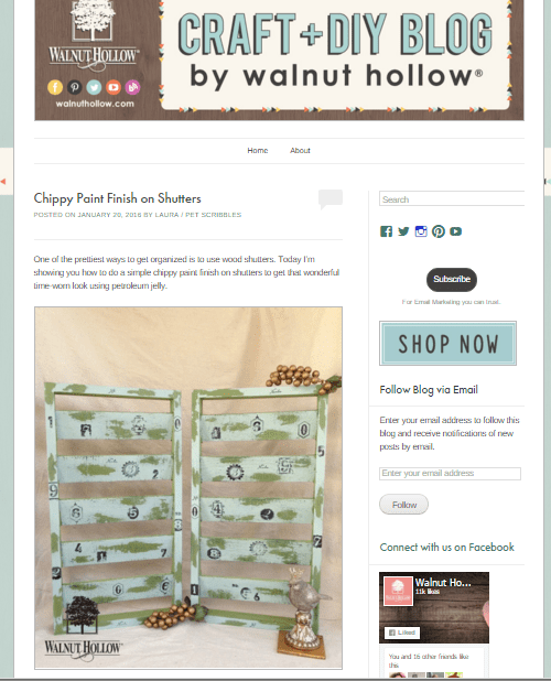 Walnut Hollow Chippy Paint Shutters