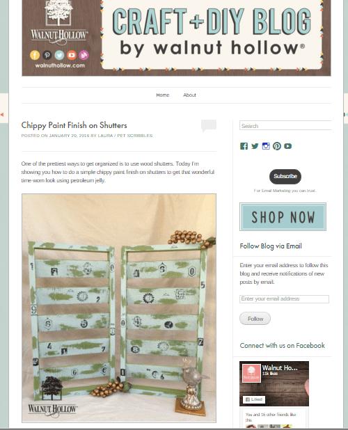 Walnut Hollow Chippy Paint Shutters