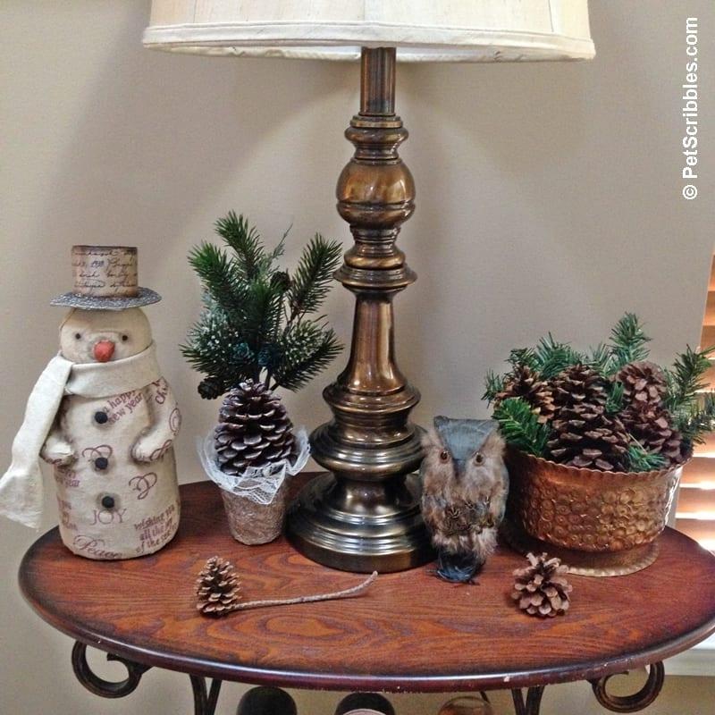 Woodland Theme with pinecones