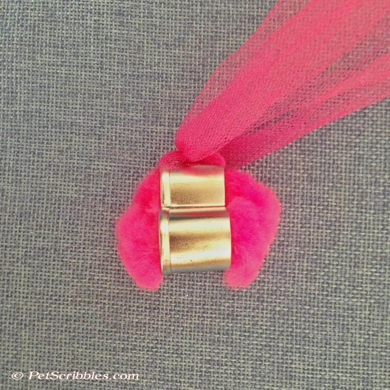 add a pom pom to a mini cookie cutter