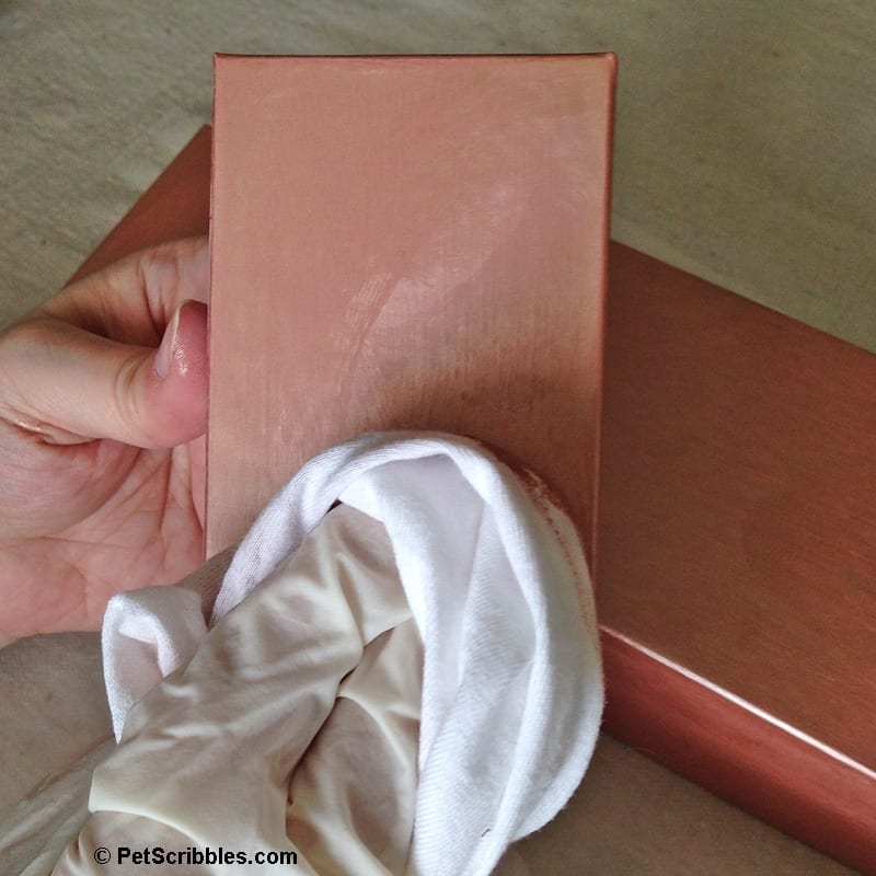 how to create rose gold stacking boxes