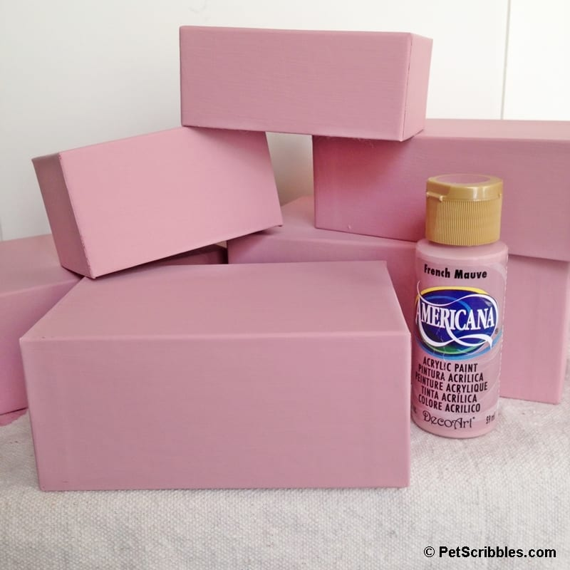 how to make rose gold stacking boxes