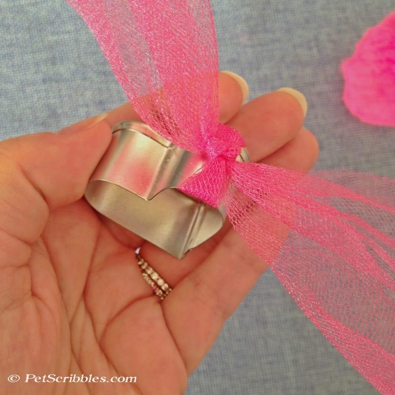 make a cookie cutter heart ornament