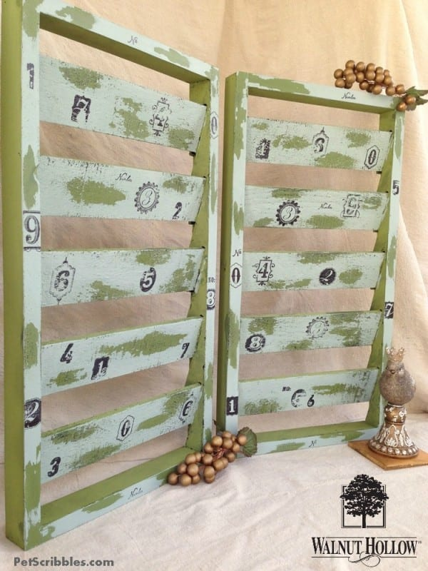 Chippy painted wood shutters