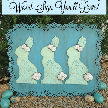 How to Make an Easter Bunny Wood Sign You'll Love