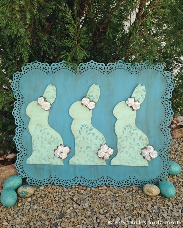 Make an Easter Bunny Wood Sign You'll Love