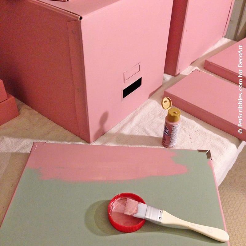 DIY Rose Gold IKEA Boxes