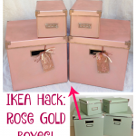 Make These Pretty Rose Gold Boxes – an IKEA Hack!