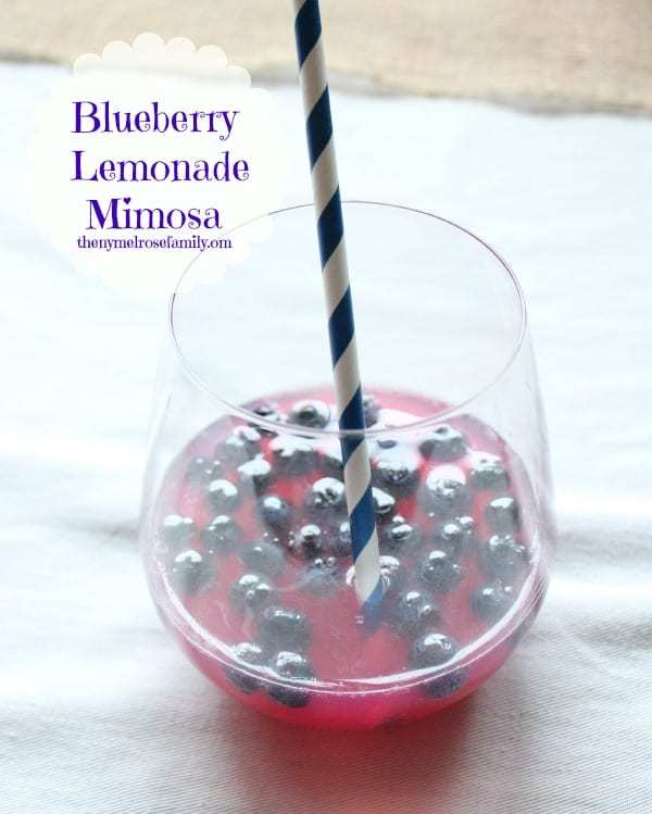 Blueberry Lemonade Mimosa | The Melrose Family