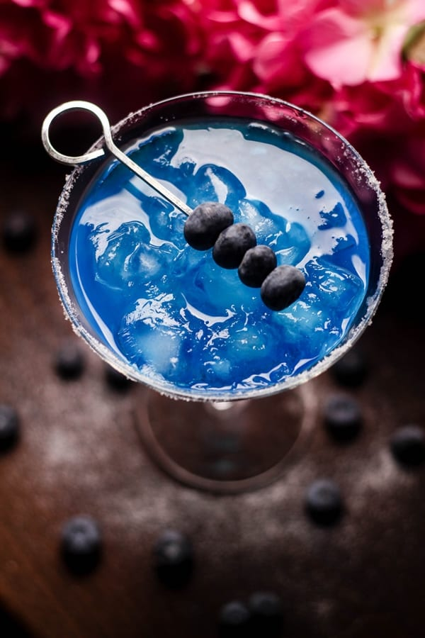 Blueberry Margarita Cocktail with salted sugar | DIY Candy