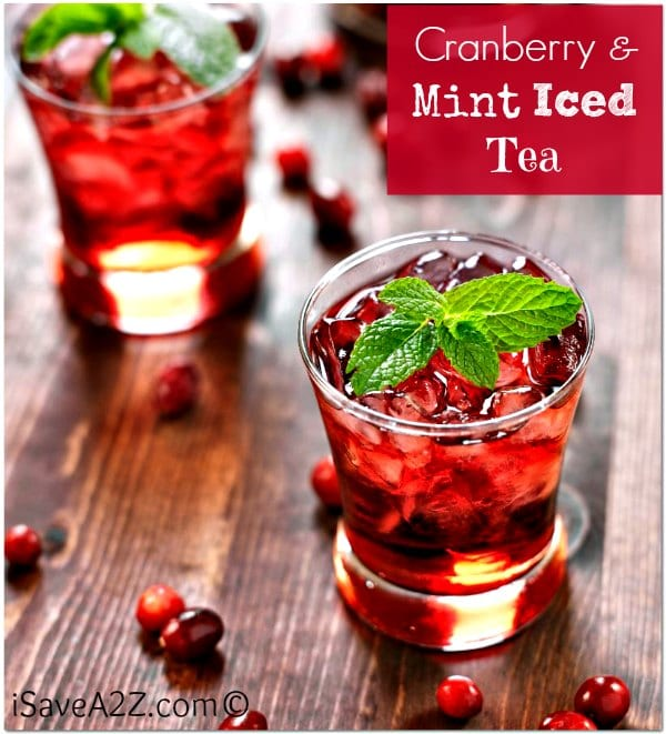 Cranberry and Mint Iced Tea | iSaveAtoZ
