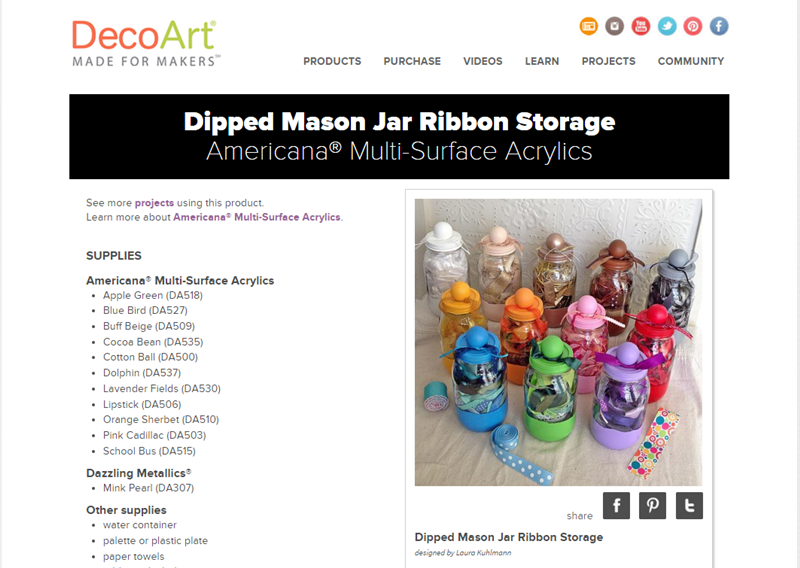 DIY Ribbon Storage Mason Jars